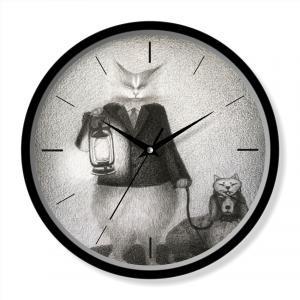 Cat theme clock