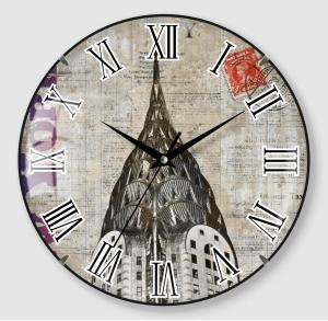 Retro design old shabby wall clock