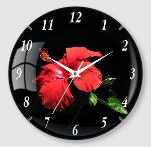 Flower painting quartz Clock