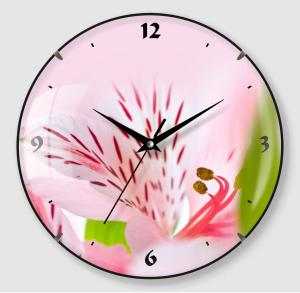 Pink Flower design clock