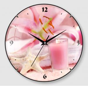 Pink cute design flower quartz clock